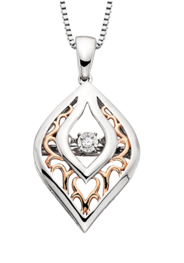 Sterling Silver Dancing Diamond Pendant