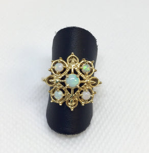 Vintage Opal Fashion Ring
