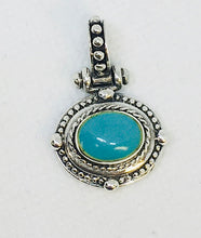 Load image into Gallery viewer, Sterling Silver and Turquoise Pendant