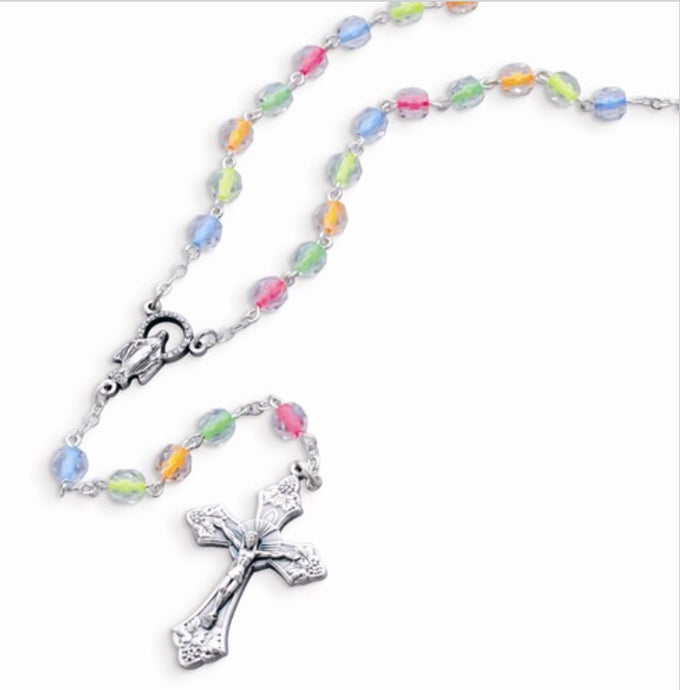 Children's Neon Colored Bead Rosary