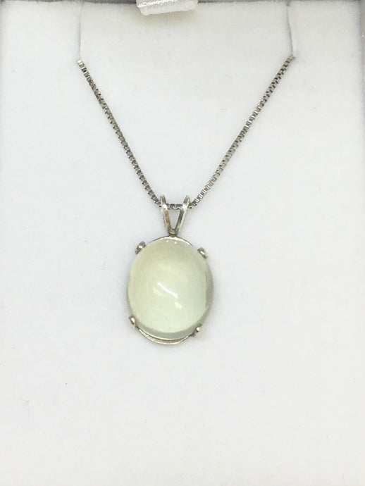 Greenish Moonstone in Sterling Silver