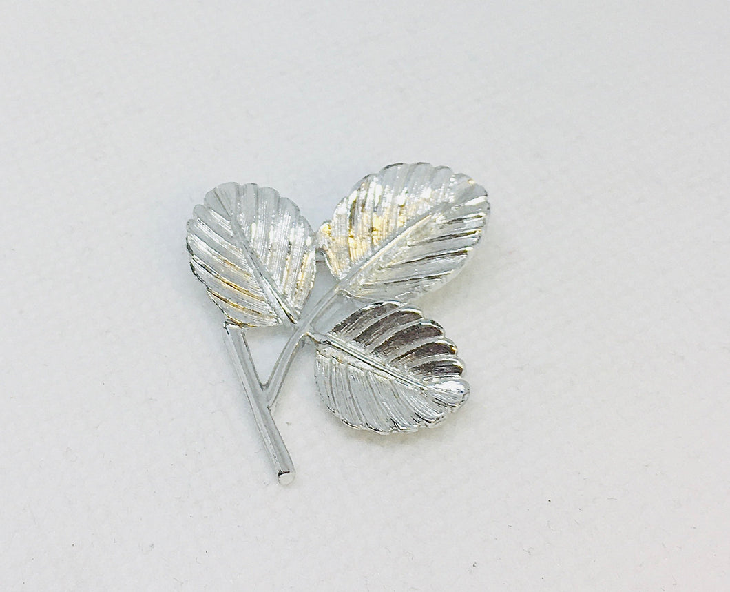 Silver Plated Leaf Pin