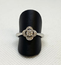 Load image into Gallery viewer, Divine 14K White Round Engagement Ring