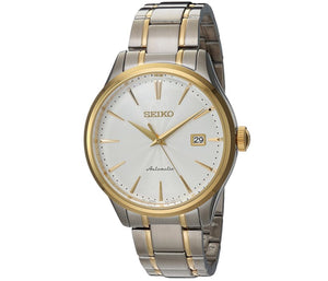 Men's Two-Tone White Dial Automatic Seiko Watch