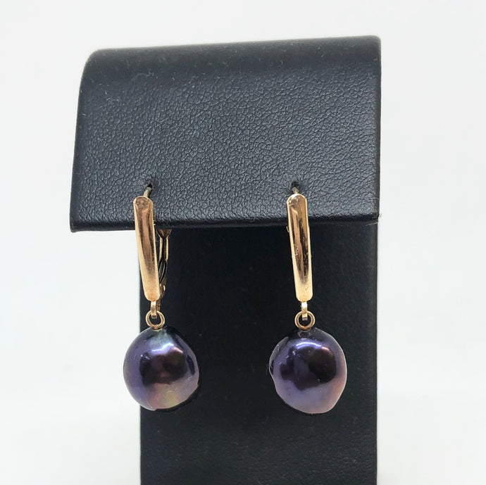 Dyed Pearl Dangle Earrings