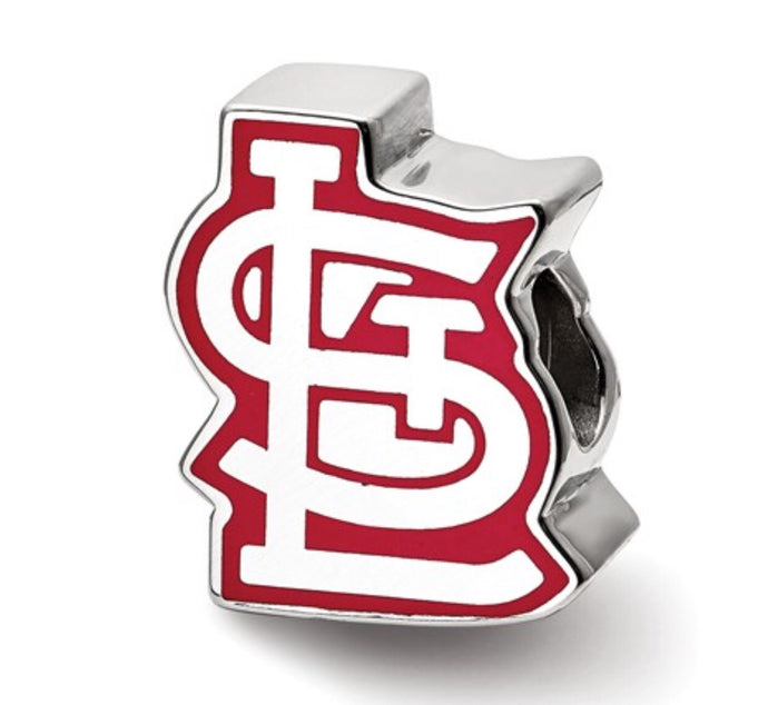 St. Louis Cardinals Enamel Reflection Bead