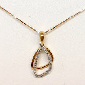 Rose Gold & Diamond Pendant