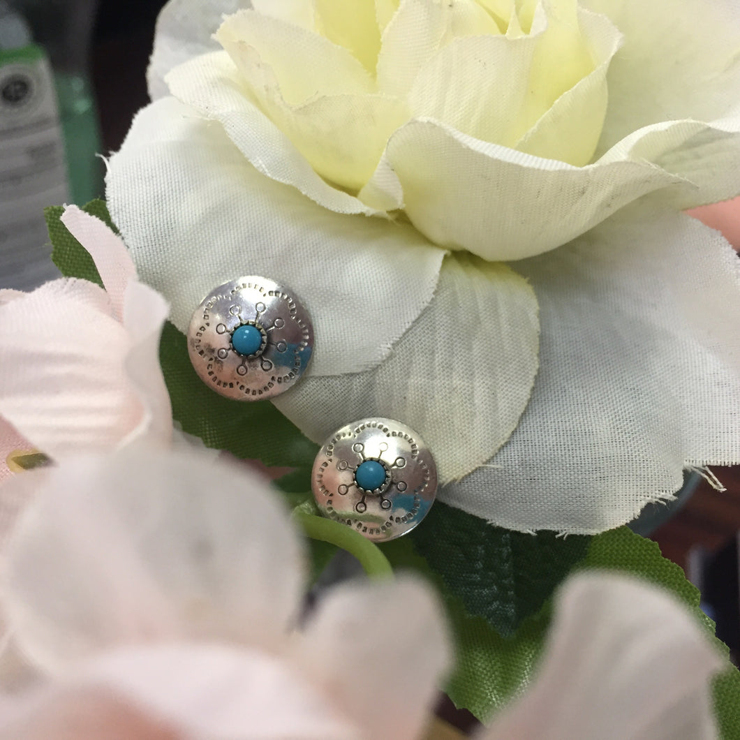 Small Turquoise Clip-on Earrings