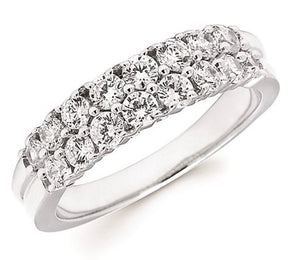 14K White Gold 1ct Diamond Band