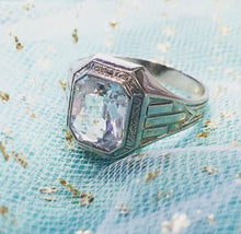 Load image into Gallery viewer, Man's White Spinel Fashion Ring