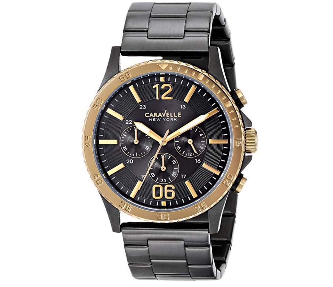 Men's All Black Caravelle Watch