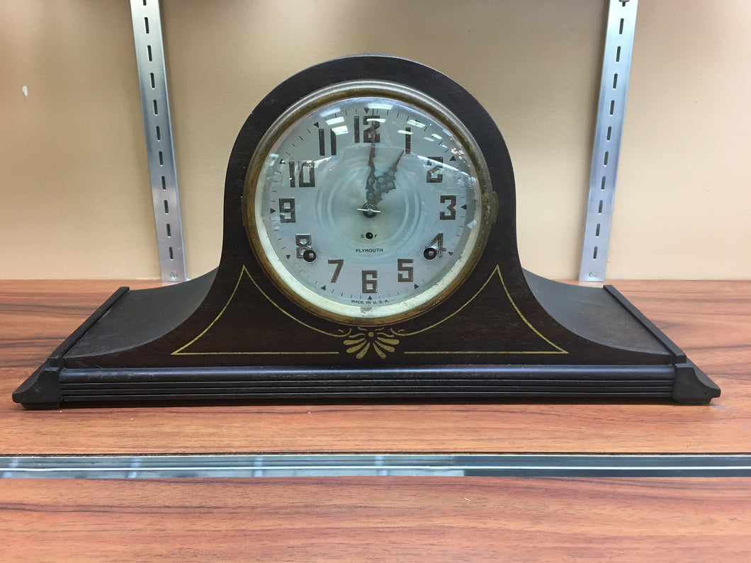 Vintage Plymouth Camel Back Mantle Clock