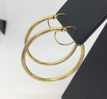 Load image into Gallery viewer, Large Gold Hoop Earrings