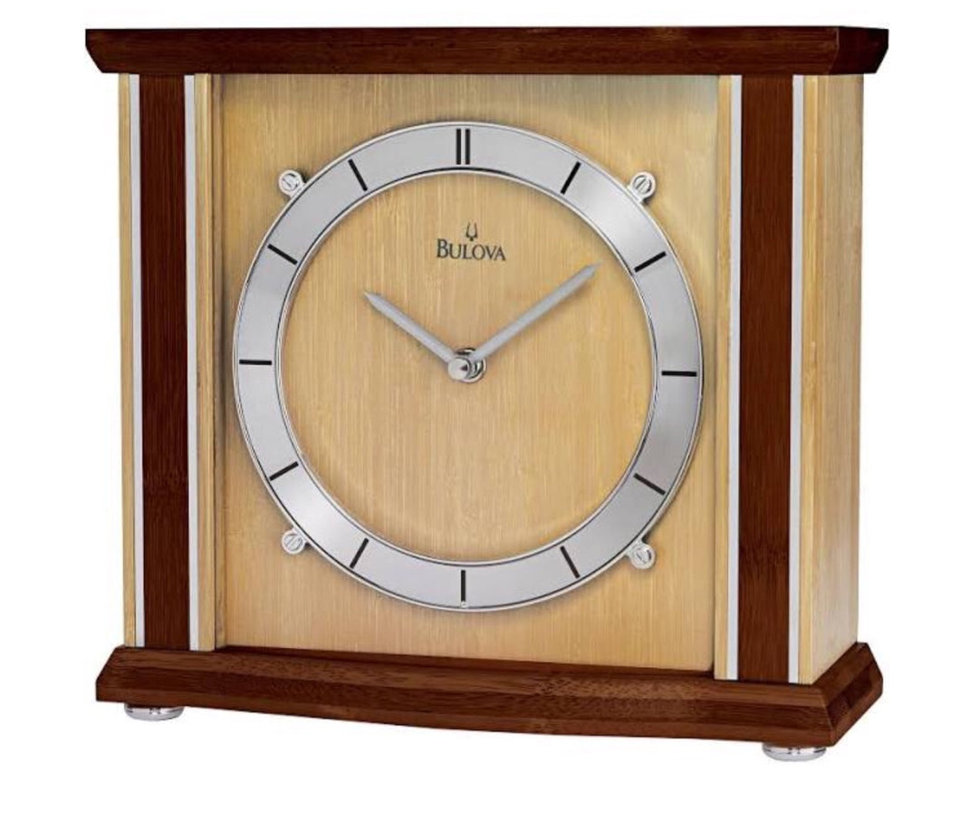 Bamboo Bulova Desk Clock