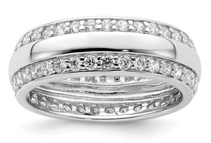 Sterling Silver & CZ Band