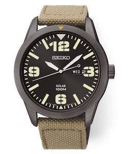 Tan Nylon Men's Seiko Watch