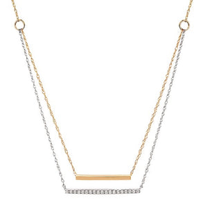 Double Stranded Two Tone Necklace
