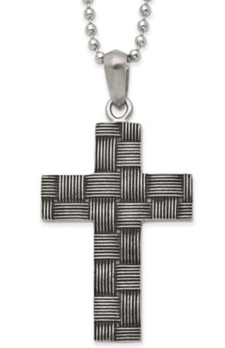 Antiques Woven Cross Necklace