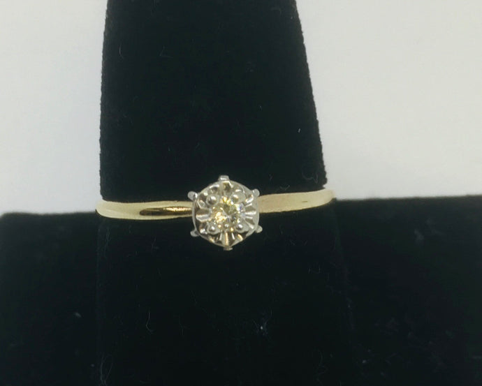 Vintage Illusion Set Engagement Ring