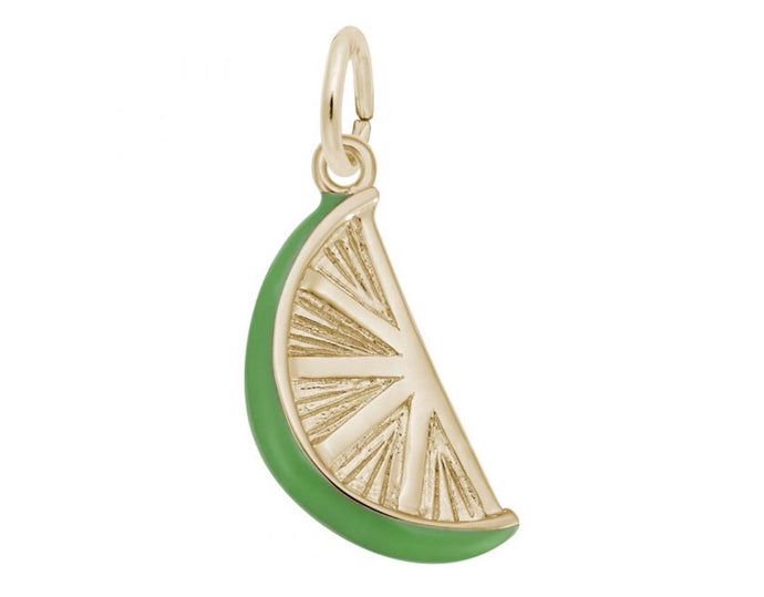 Lime Wedge Charm