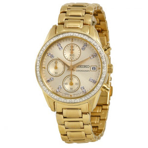Women's All Gold-Tone Seiko Watch
