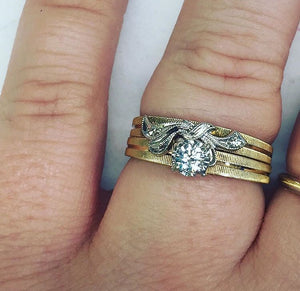 Vintage Diamond Wedding Set