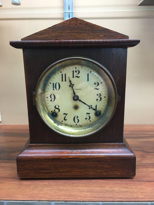 Vintage Seth Thomas Veneer Mantle Clock