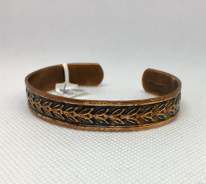 Antiqued Copper Bracelet