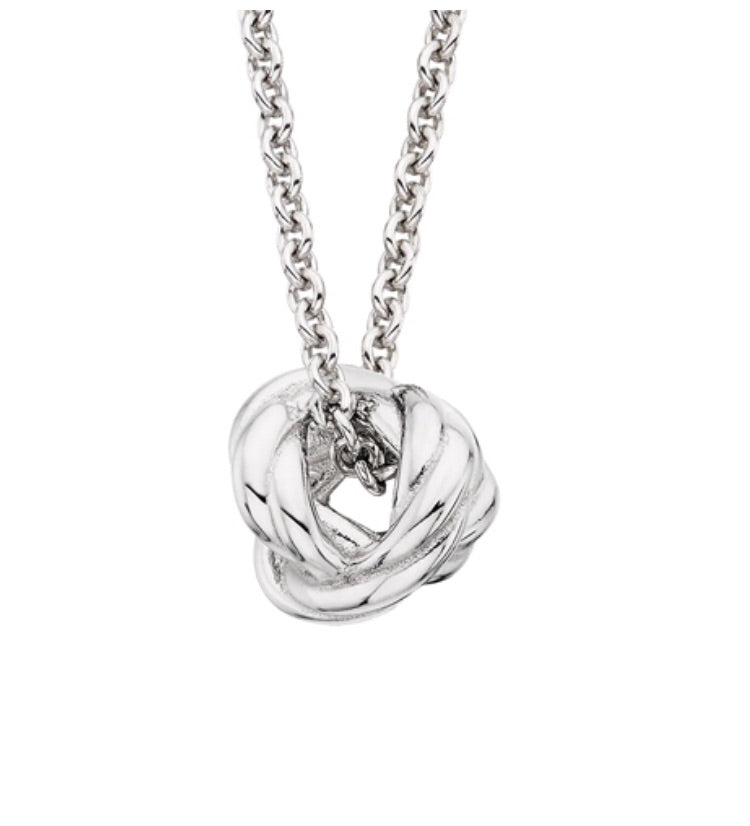 Sterling Love Knot Pendant Necklace