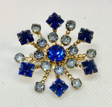 Load image into Gallery viewer, Blue Starburst Costume Brooch
