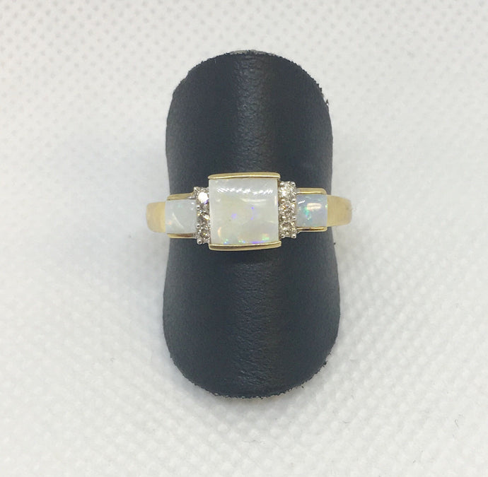 Square Opal Fashion Ring