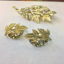 Load image into Gallery viewer, Iridescent Rhinestone Brooch and Earring Set