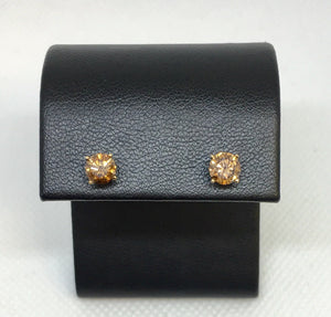 Brown Diamond Stud Earrings