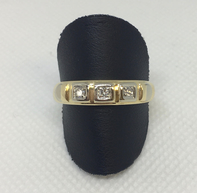 Mans Diamond Wedding Band