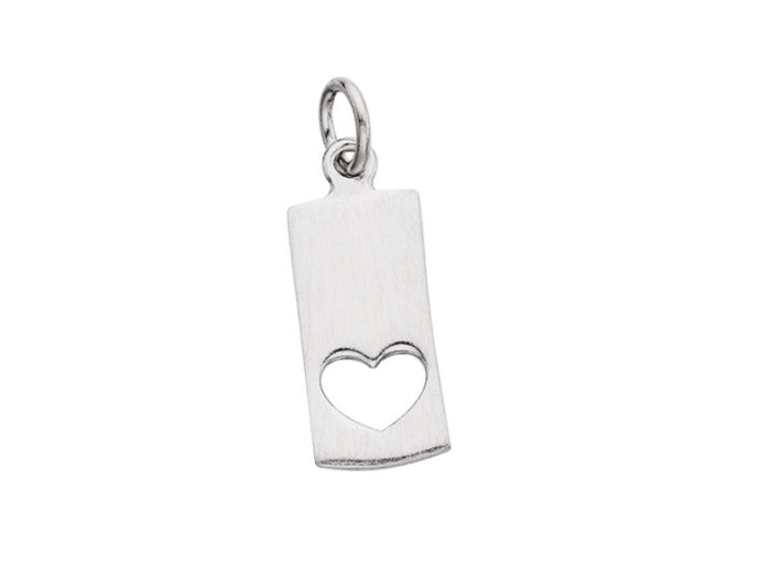 Cut Out Heart Tag Charm