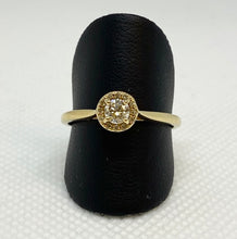 Load image into Gallery viewer, Shiny 14K Yellow Gold Round Halo Engagement Ring