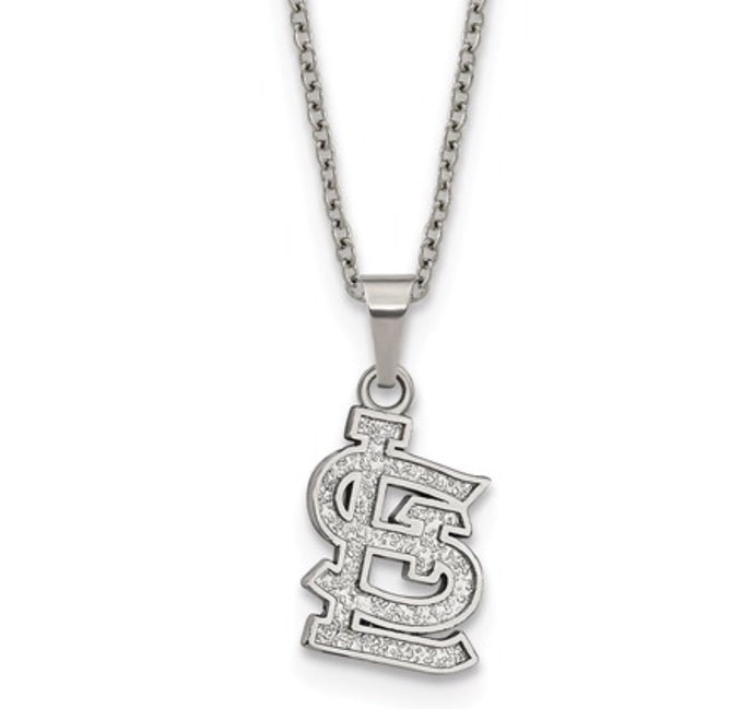 St. Louis Cardinals Stainless Steel Emblem Necklace