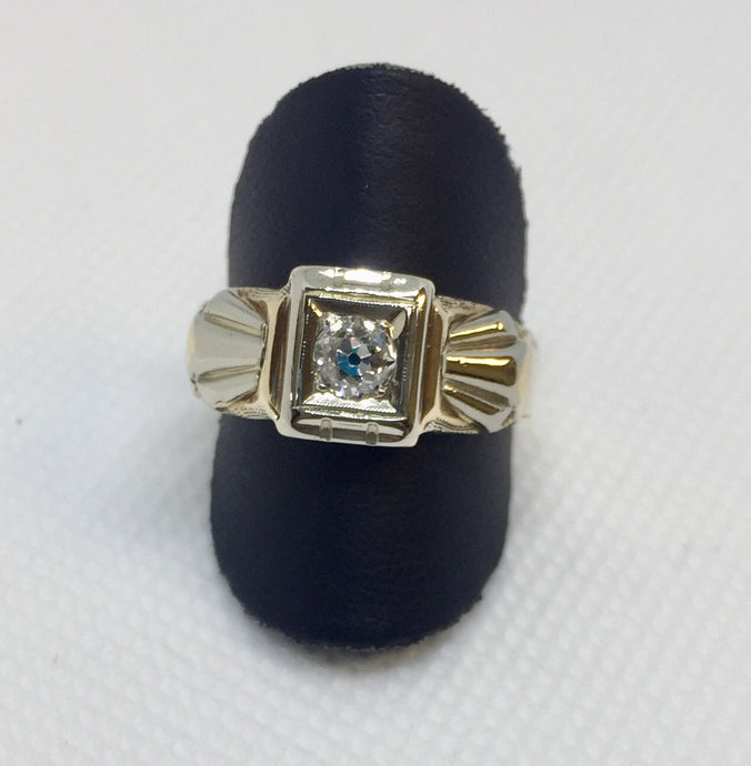 Vintage Man's European Cut Diamond Ring