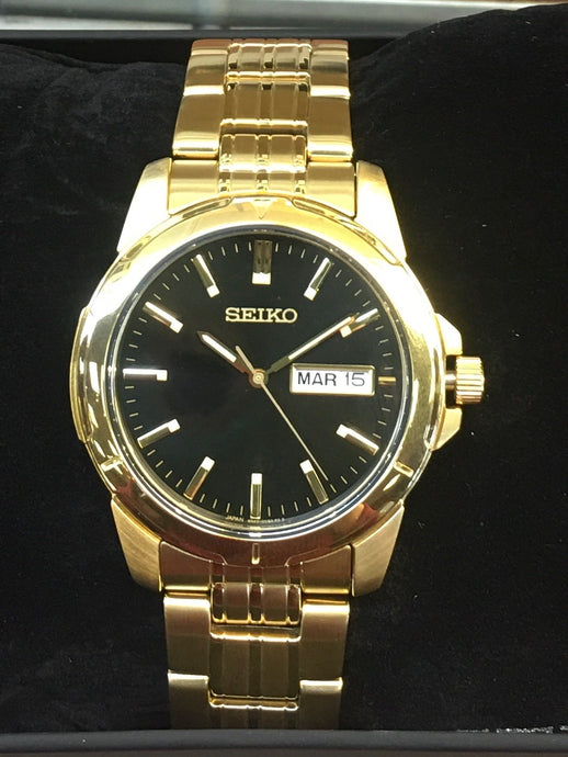 Yellow Toned Man's Seiko Watch