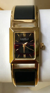 Women's Black & Yellow Black Dial Caravelle Watch
