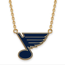 Load image into Gallery viewer, St. Louis Blues Gold Plated Blue Enamel Necklace