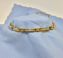 Load image into Gallery viewer, Baguette Diamond Tennis Bracelet