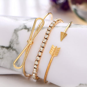 3 Piece Arrow Bracelet Set