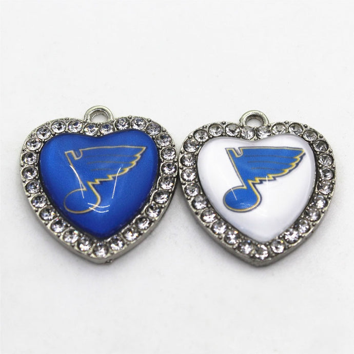 Saint Louis Blues Crystal Heart