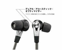 Load image into Gallery viewer, DENON canal earphone for high resolution sound source / dual driver black