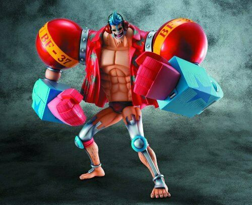 One Piece P.O.P SA‐MAXIMUM Armored Franky Figure Mega House Rare Japan F/S NEW