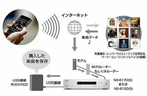 Onkyo NS-6130 Network Audio Player Silver [High Resolution Support] japan