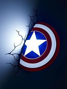 NEW 3D Light FX Marvel Captain America Shield Wall Light