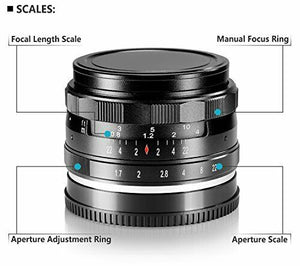 Neewer 35mm f/1.7 Manual Focus Prime Fixed Lens for SONY E-Mount New E