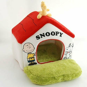 Snoopy garden with red roof House Smal lWashable Pet paradise 99855259 EMS Free